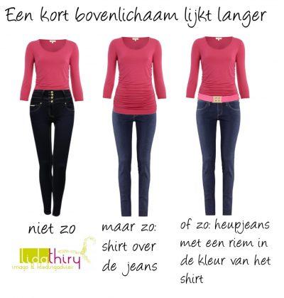 Kennis van je eigen lichaam is belangrijk, omdat het zoveel gemakkelijker wordt er goed uit zien. Zo kom je er achter of je een lang of kort bovenlichaam hebt.
