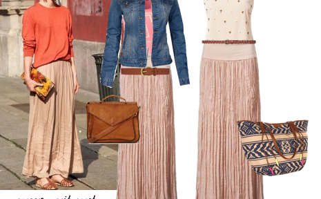 Een lange rok draag je zo – mix & match