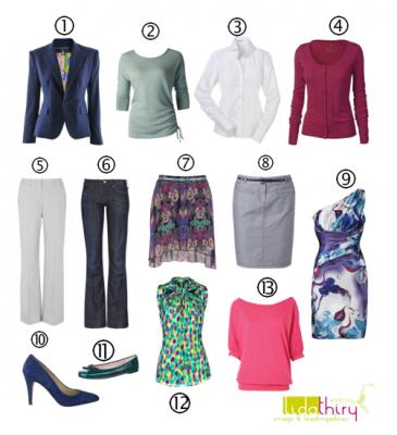 Met het 13 is soms 31 garderobeplan heb je veel kleding om aan te trekken