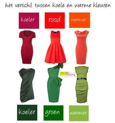 Het verschil tussen koele en warme kleuren