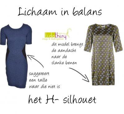 De ideale jurk voor het H-silhouet - lichaam in balans