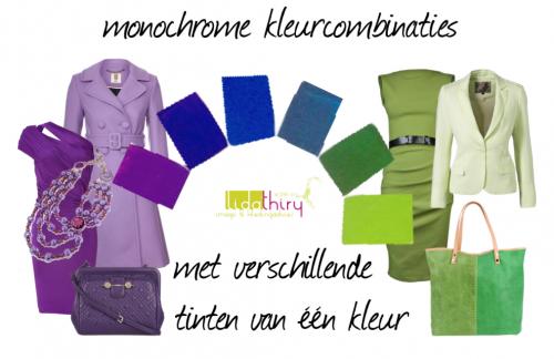 monochrome kleuren combineren