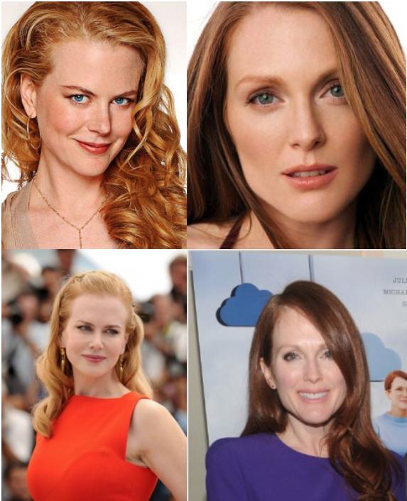 Roodharige vrouwen die grijze haren krijgen