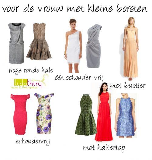 Halslijnen voor kleine borsten - jurken