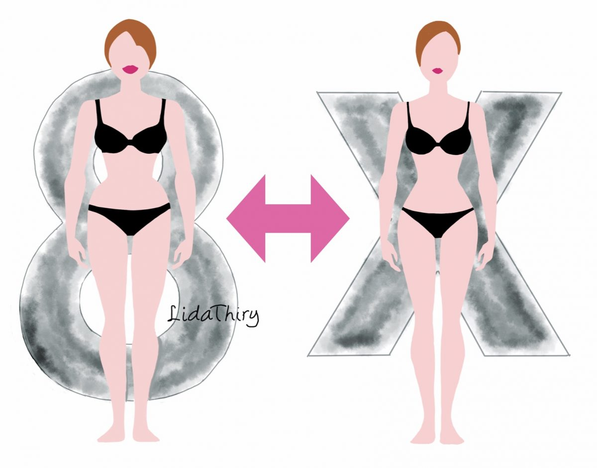 Het X-silhouet versus het 8-silhouet – bodytypes