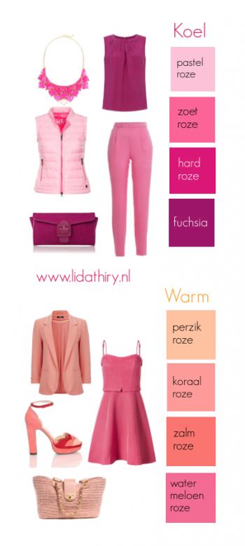 Roze maakt jonger - kies wel de juiste kleur roze