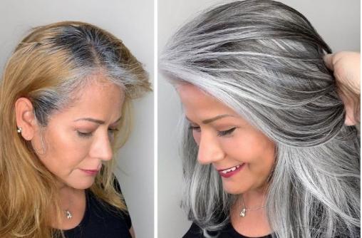 Stralend mooi grijs – heb lef om je grijze haren te tonen