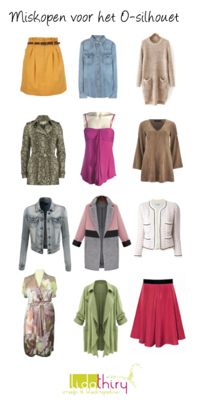 Miskopen voor het O-silhouet - laat deze kleding hangen