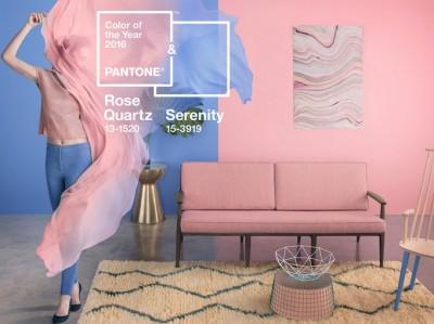 Serenity en Rose Quartz zijn dé kleuren van het jaar 2016