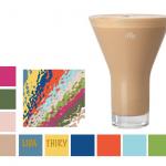 De kleur van koffie met melk - Hazelnut