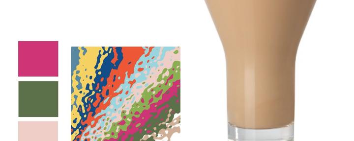 De kleur van koffie met melk – Hazelnut