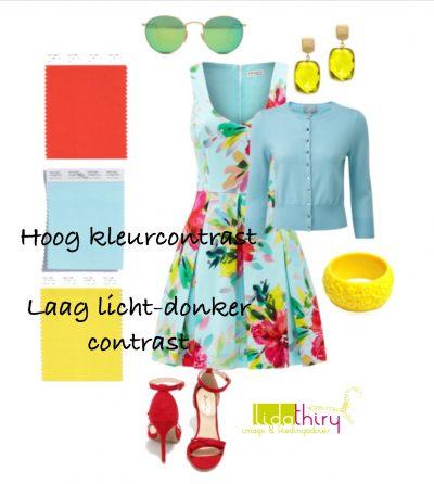 De contrastniveau's in je outfit - hoog kleurcontrast