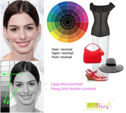 De contrastniveau's in je outfit - laag kleurcontrast