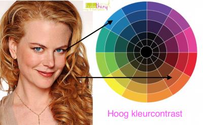 Zo hoog kan het kleurcontrast in jouw kleding zijn