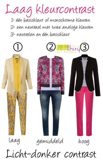 Zo hoog kunnen de contrastniveau's in je outfit zijn (1)