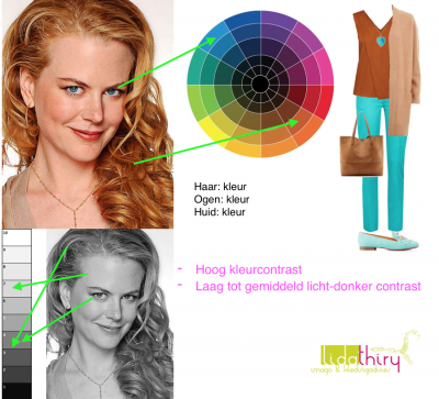 Hoe hoog de contrastniveau's in je outfit kunnen zijn wordt bepaald door de contrastniveau's in je uiterlijk