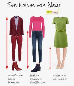 Verticale lijnen verlengen en versmallen – lijnen in kleding (1)