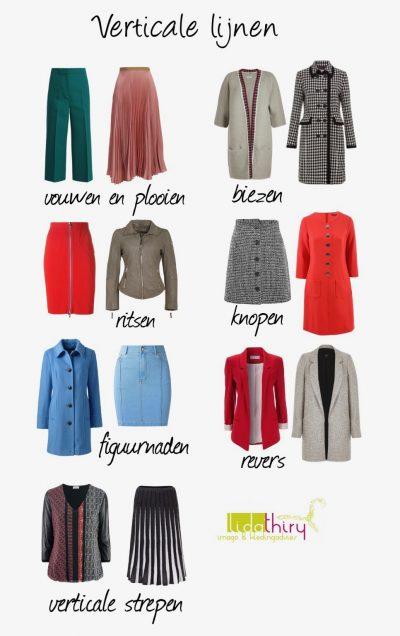 Verticale lijnen verlengen - lijnen in kleding