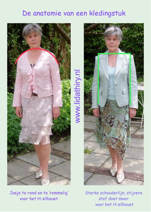 De anatomie van een kledingstuk - lijnen en vormen