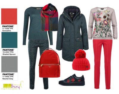 De Kleur Rood : De kleuren rood en groen kledingcombinaties met de kerstkleuren
