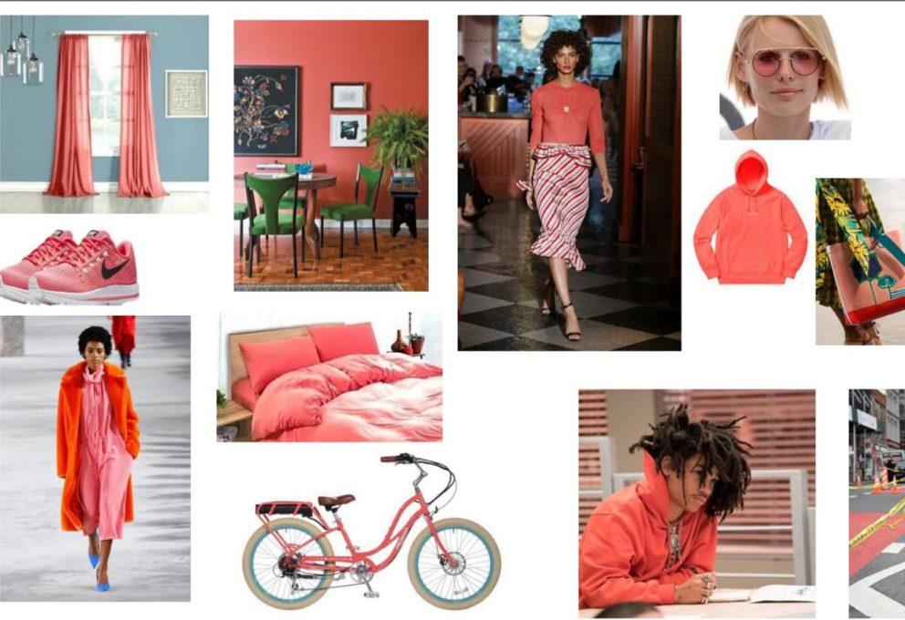 De kleur van het jaar 2019 Living Coral