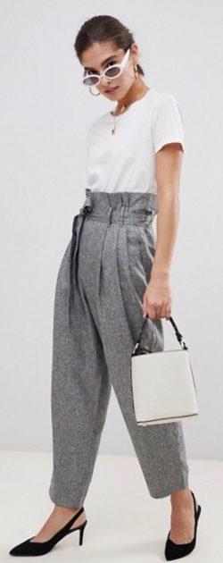 Zo draag je een paperbag taillebroek- stijltips
