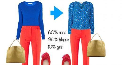 Gebruik de 60-30-10 formule voor de kleuren in je outfit