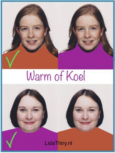 Je kleurtype ontdekken in vier stappen - warm of koel