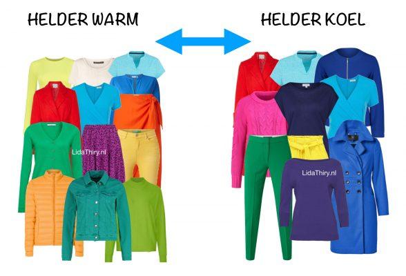 Helder-warm versus helder-koel kleurtype