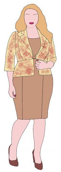 De korte volle vrouw - langer en slanker lijken