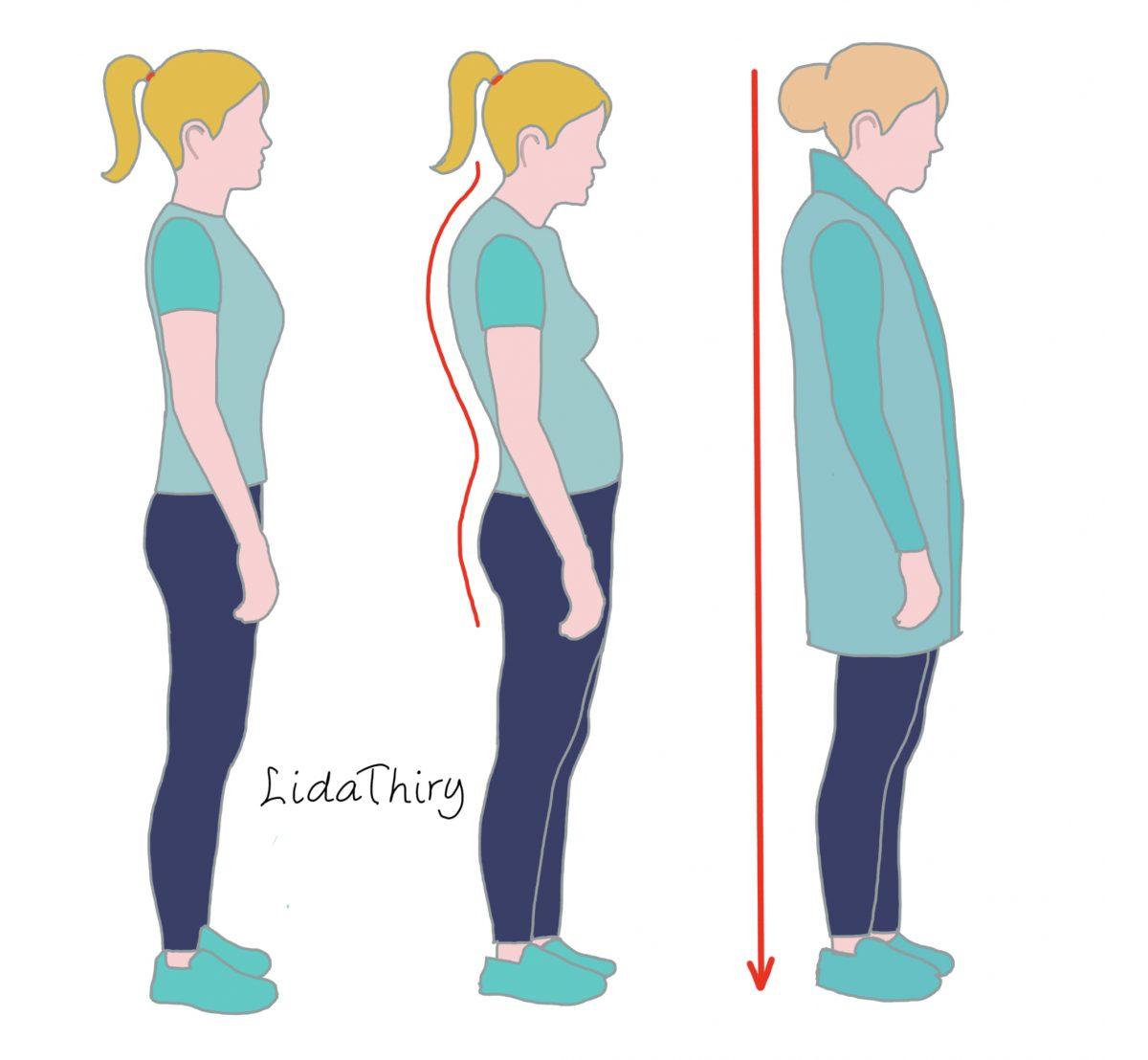 Zes tips om een ronde rug te camoufleren